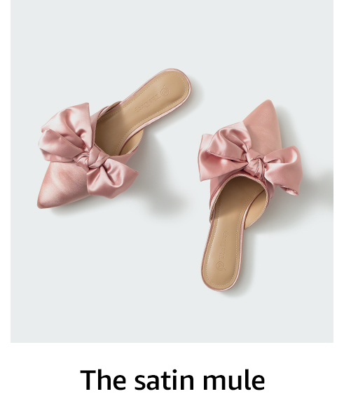The satin mule