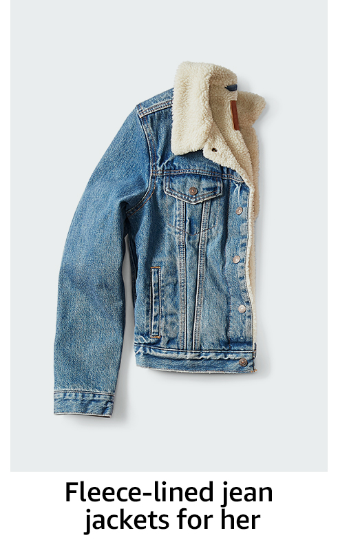 Fleece-lined jean jackets