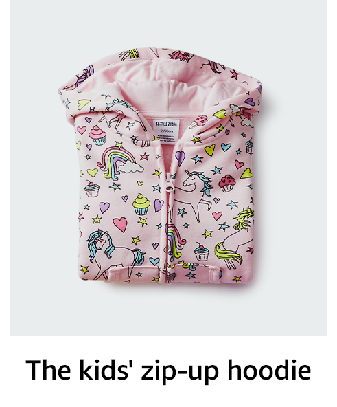 The kids' zip-up hoodie
