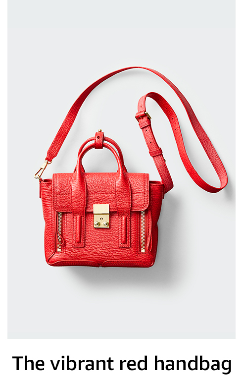 The vibrant red handbag