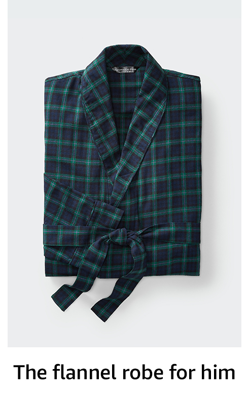 Flannel robe for him