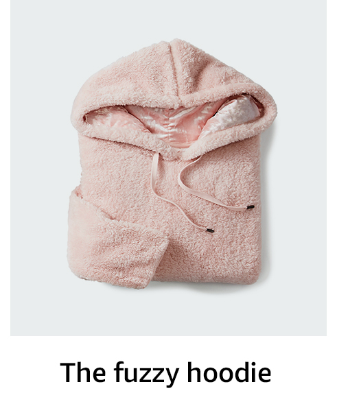 The fuzzy hoodie