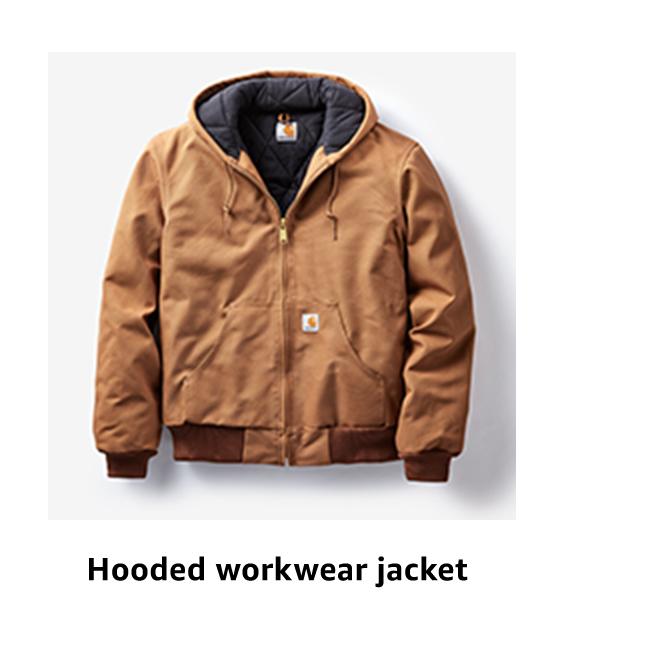 Hooded workwear jacket