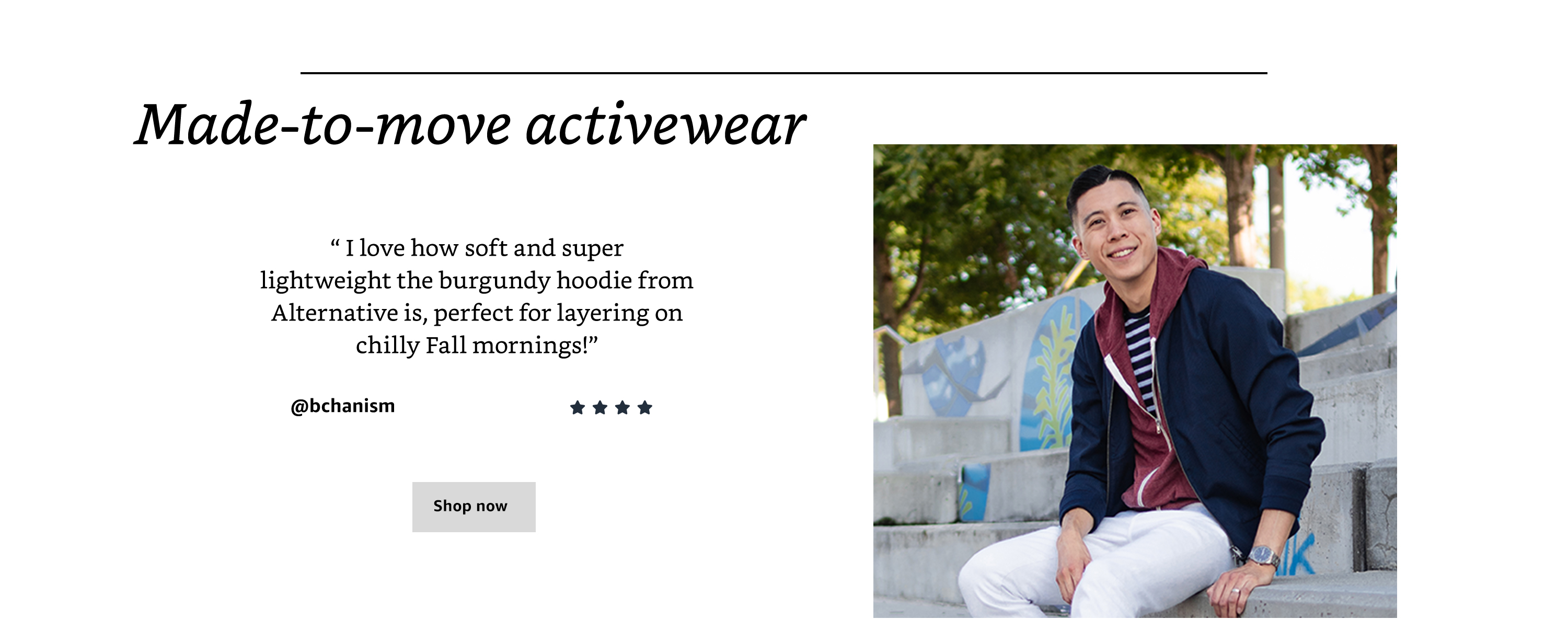 Made-to-move activewear