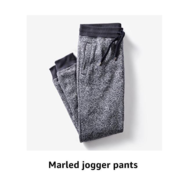 Marled jogger pants