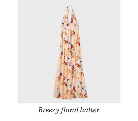 Breezy floral halter