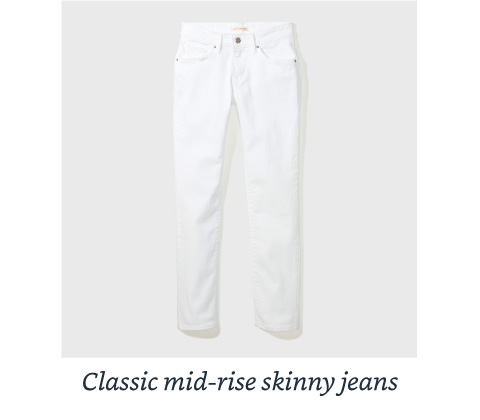 Classic Mid-rise skinny jeans