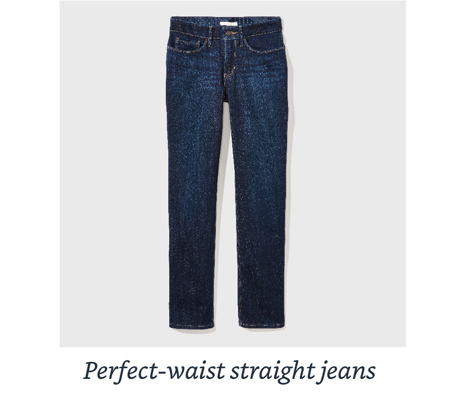 Perfect-waist straight jeans
