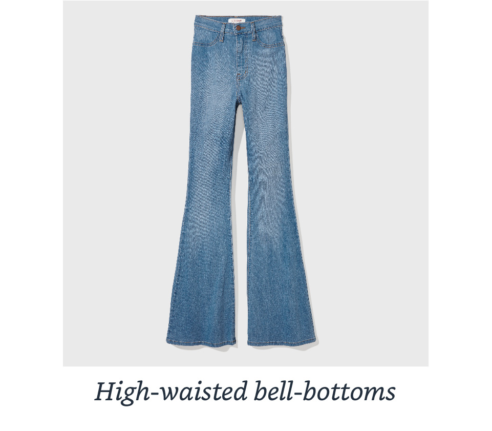 High-waisted bell-bottoms