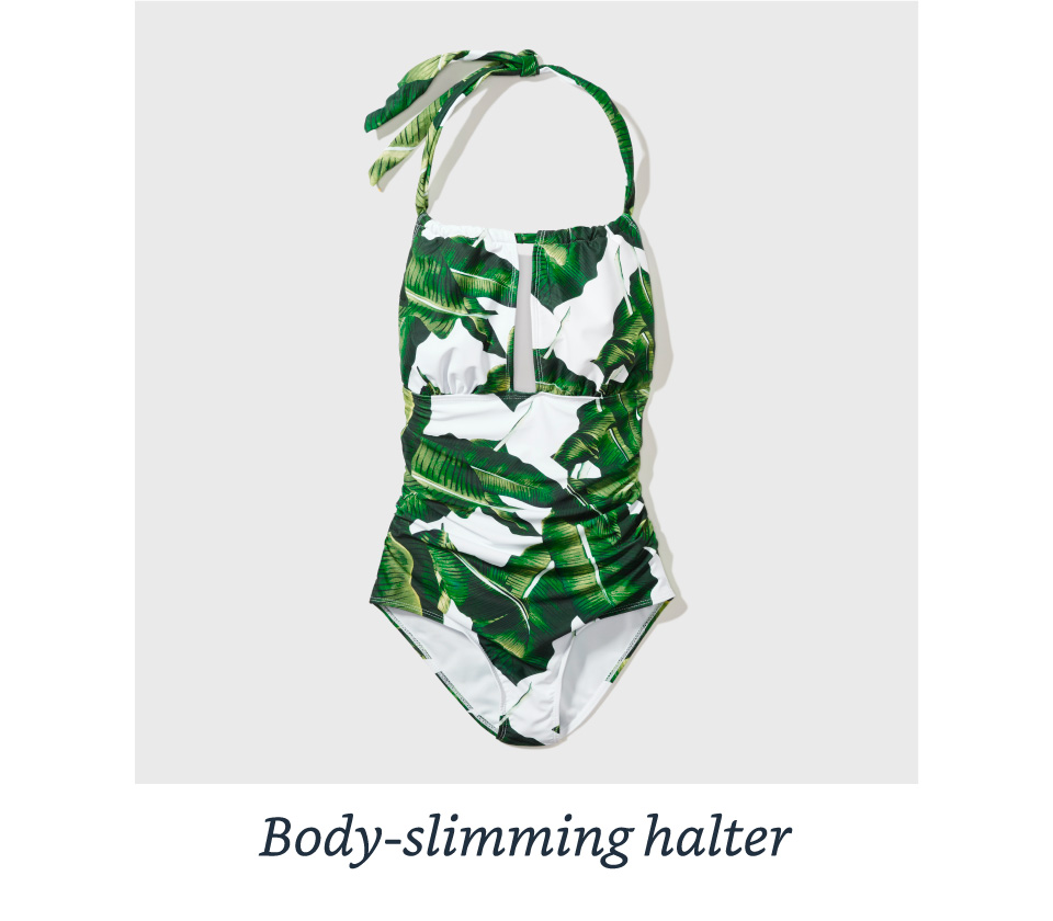 Body-slimming halter