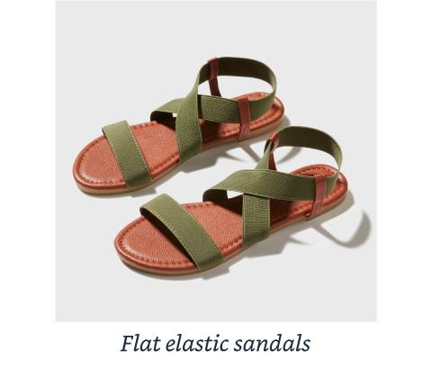 Flat elastic sandals