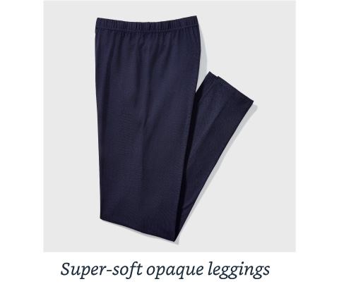 Super-soft opaque leggings