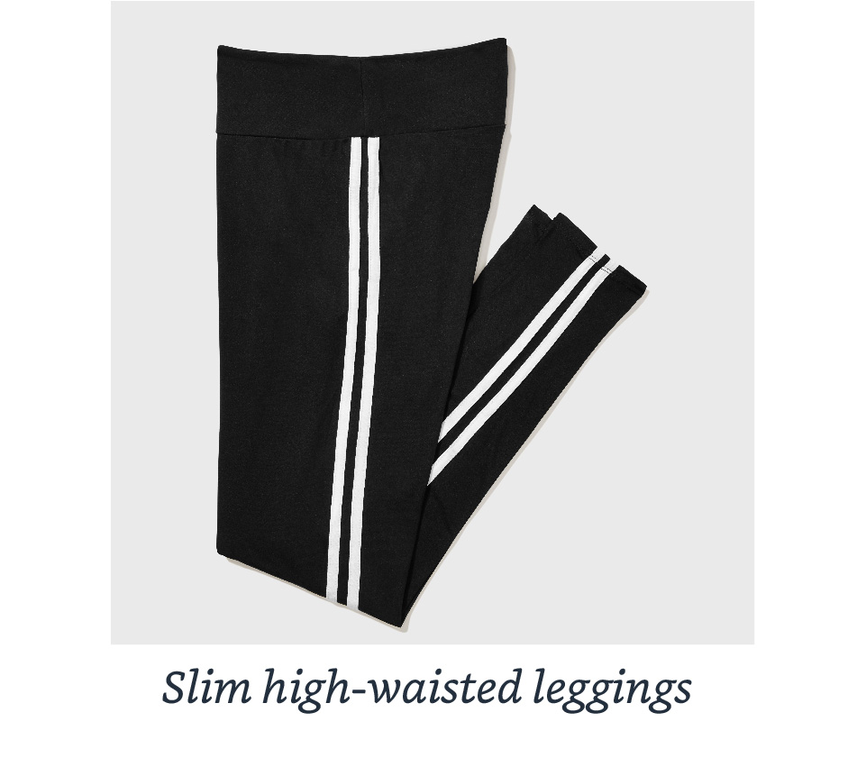 Slim high-wasited leggings