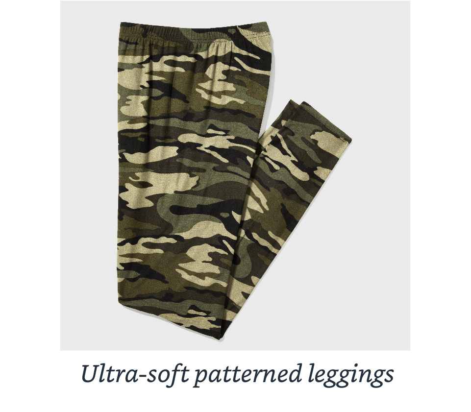 Ultra-soft patterned leggings