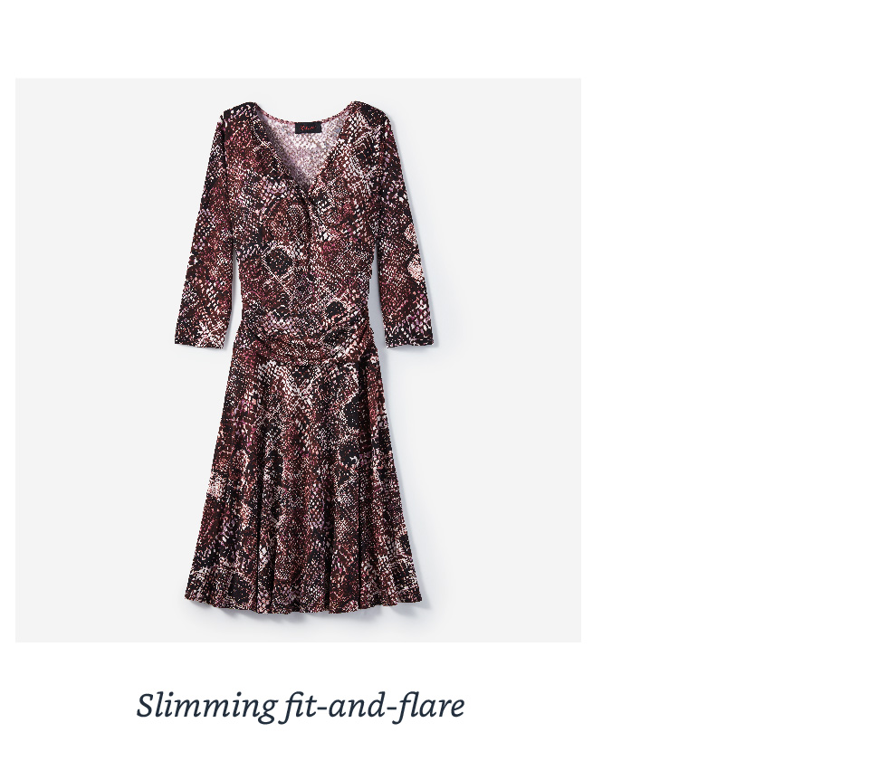 Slimming fit-and-flare