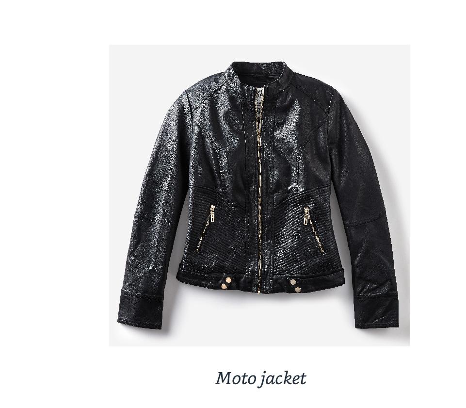 Hooded moto jacket