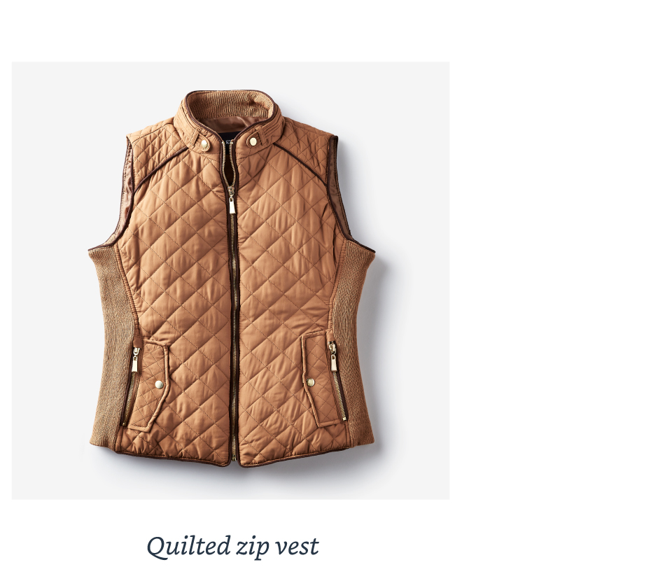 Quilted zip vest