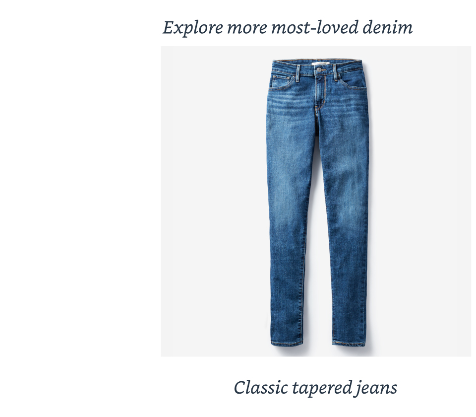 Classic tapered jeans