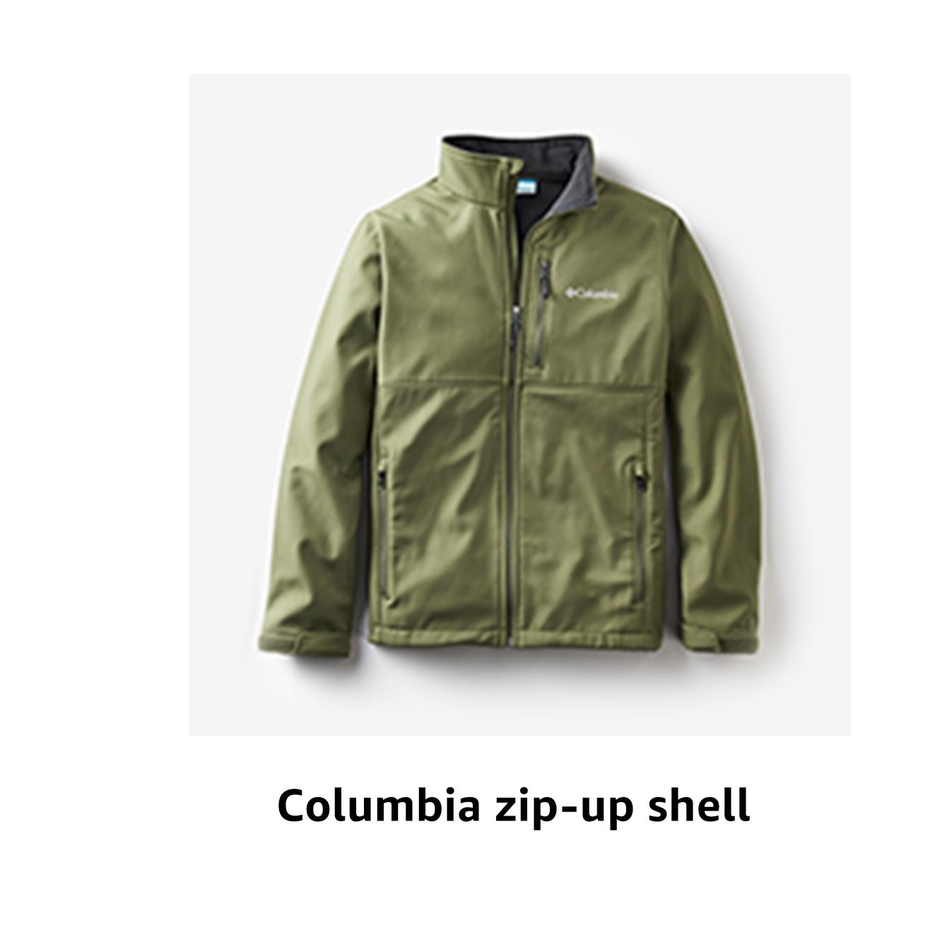 Columbia zip-up shell