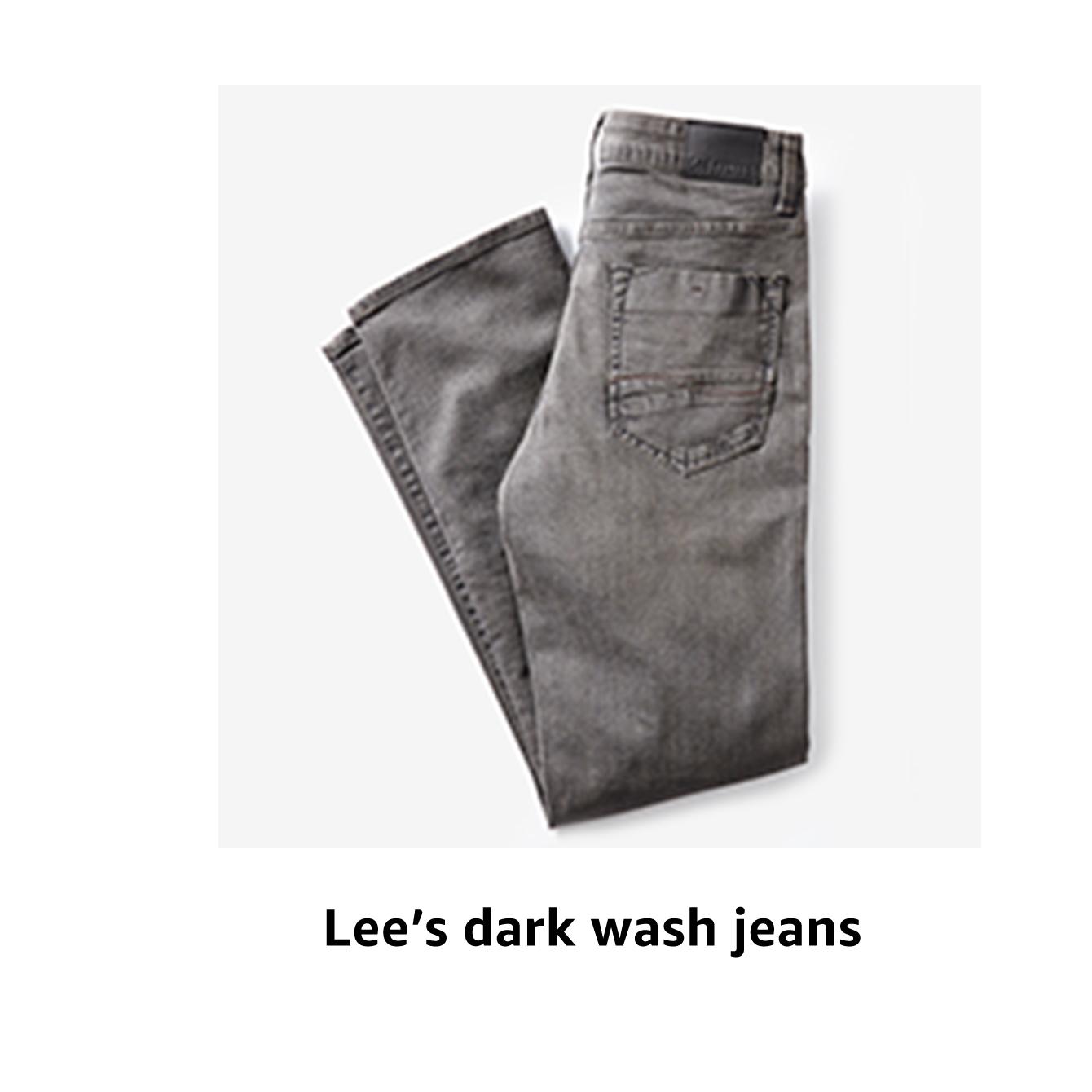 Lee's dark wash jeans