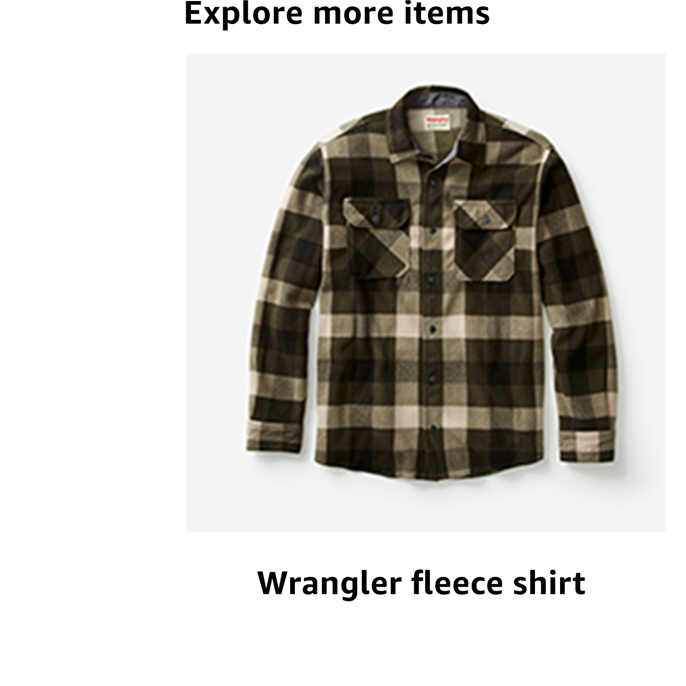 Wrangler fleece shirt