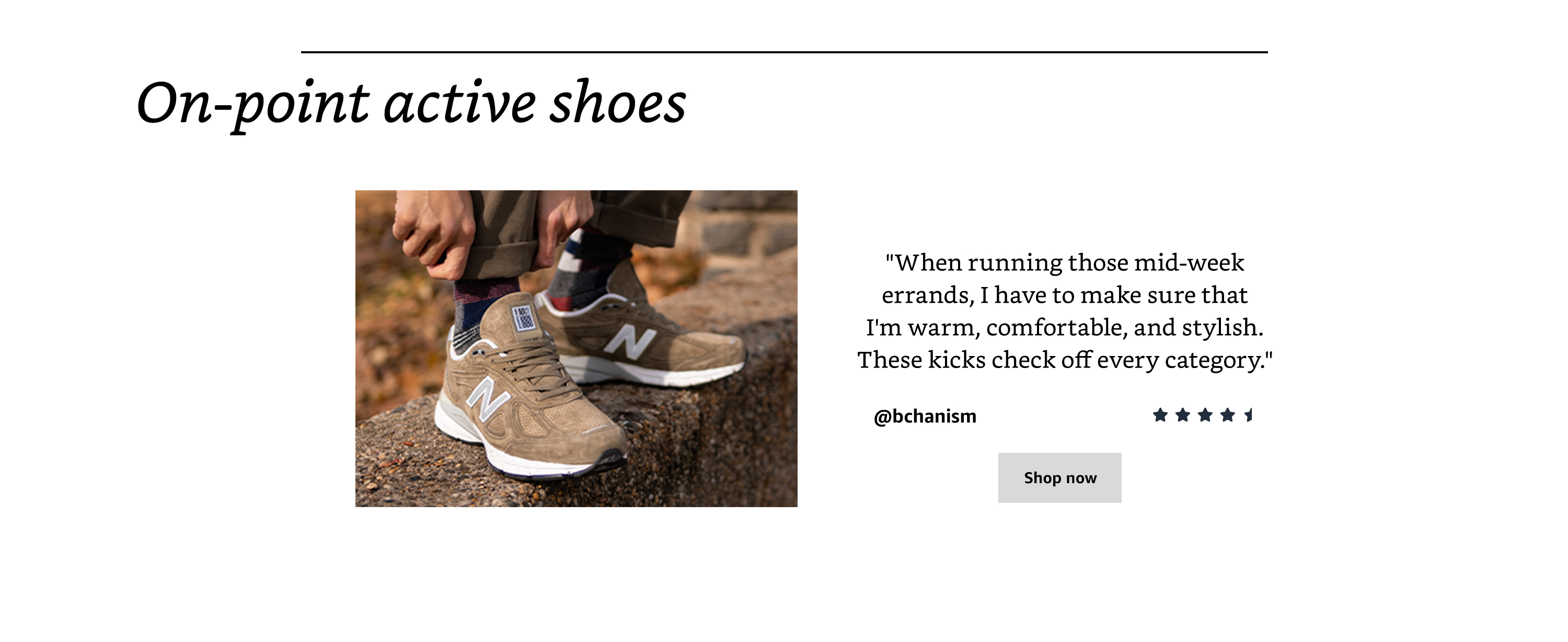On-point active shoes