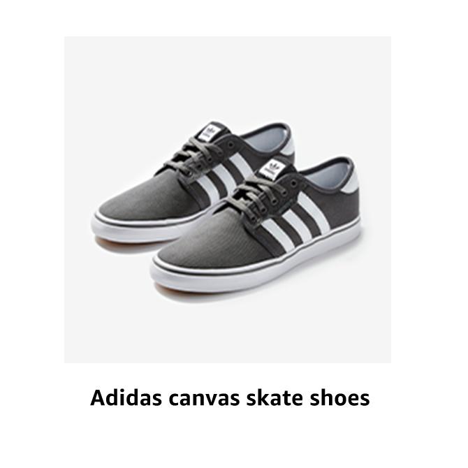 Adidas canvas skate shoes