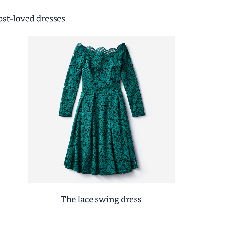 The lace swing dress