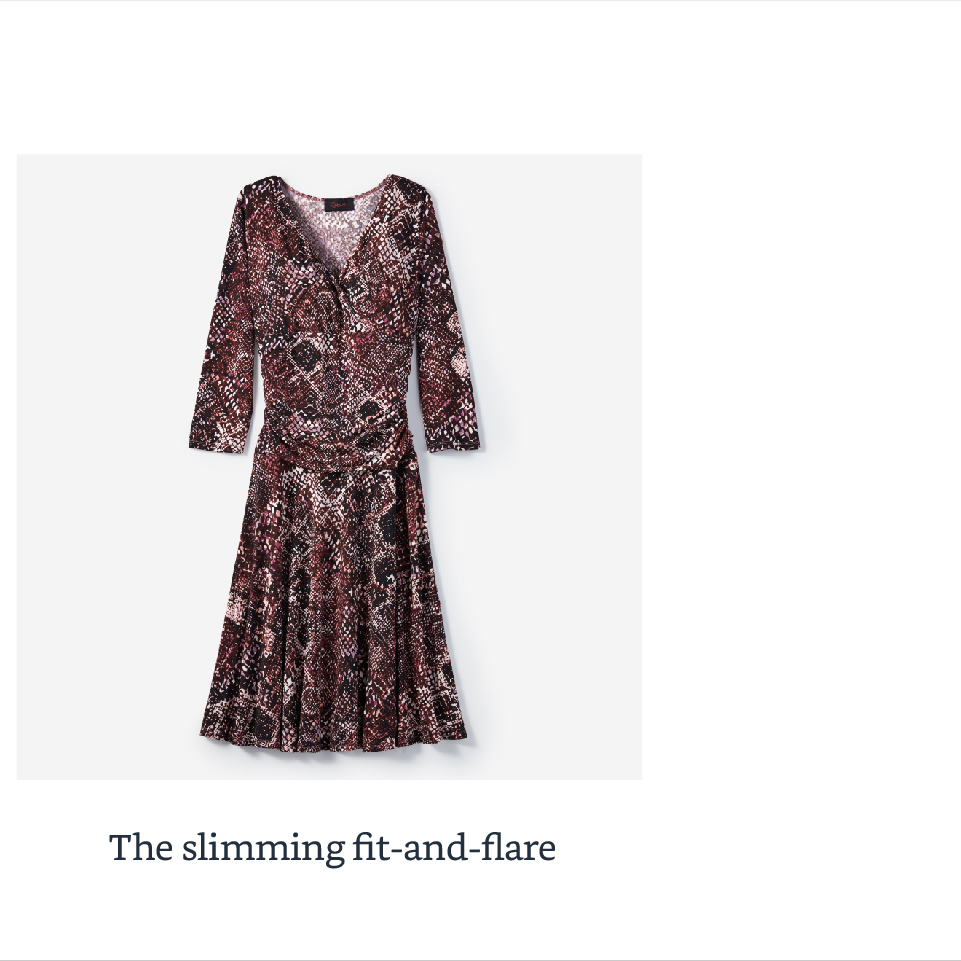 The slimming fit-and-flare