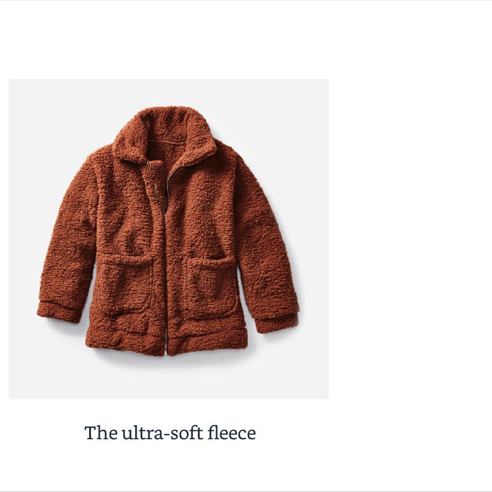 The ultra-soft fleece