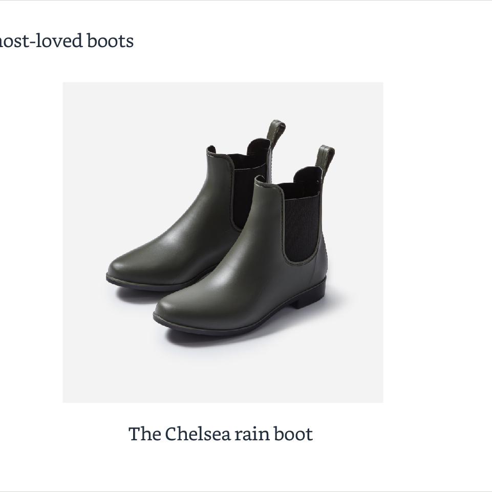 The Chelsea rain boot