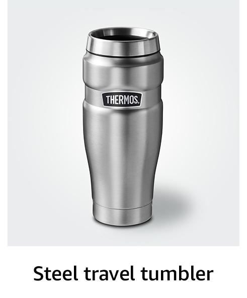 Steel travel tumbler