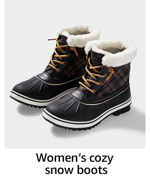 Women's cozy snow boots