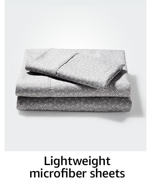 Lightweight microfiber sheets