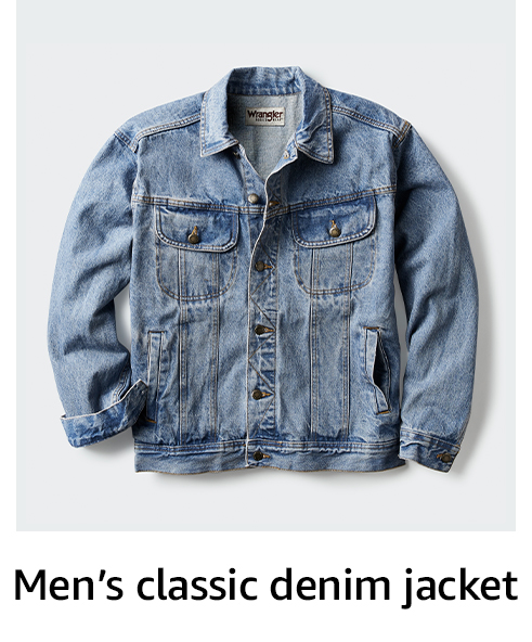 Men's classic denim jacket