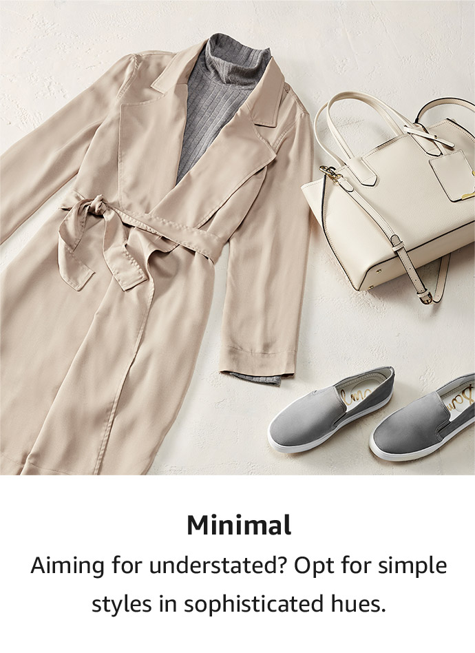 Shop by style: Minimal