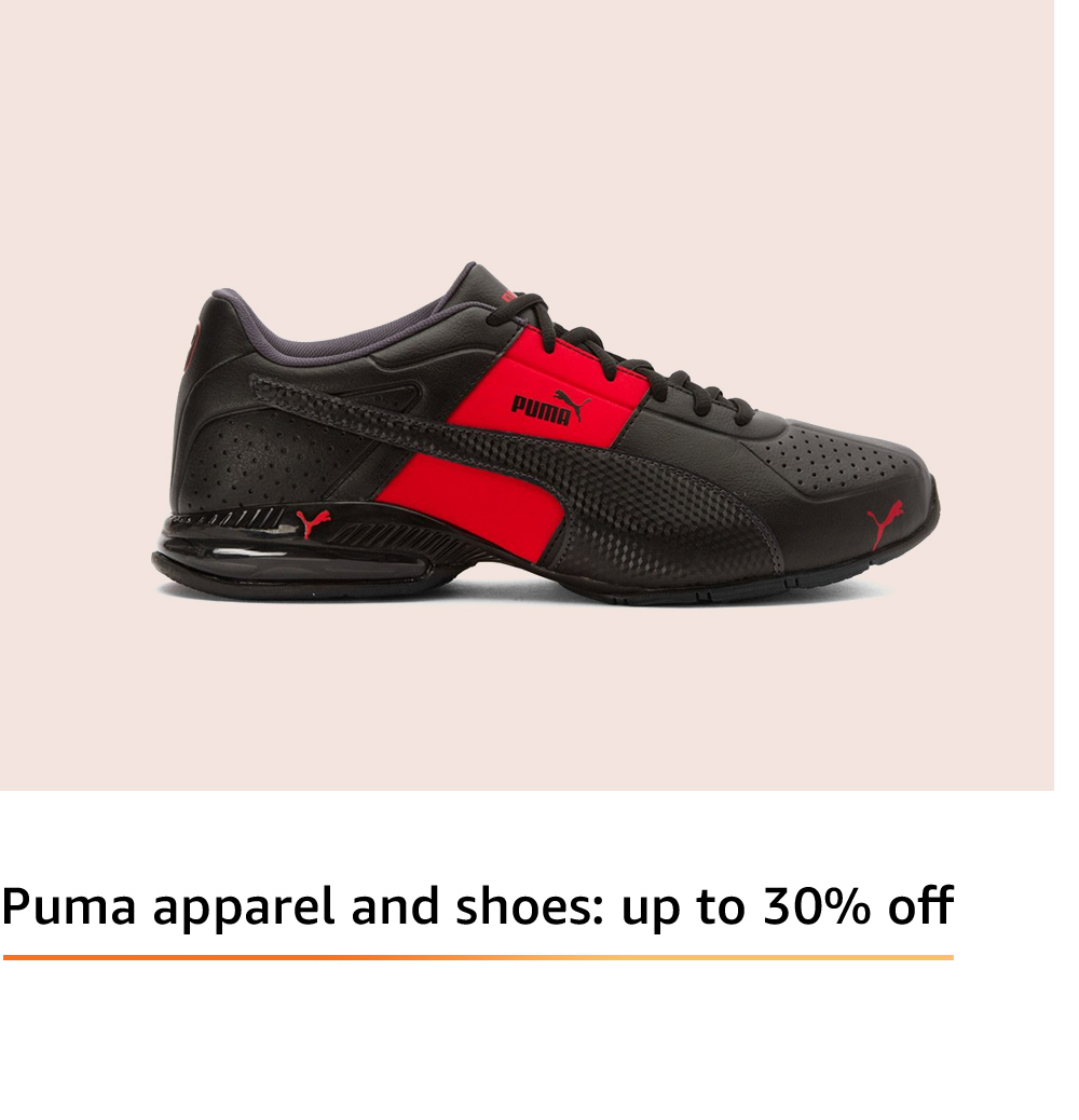 Puma apparel and shoes