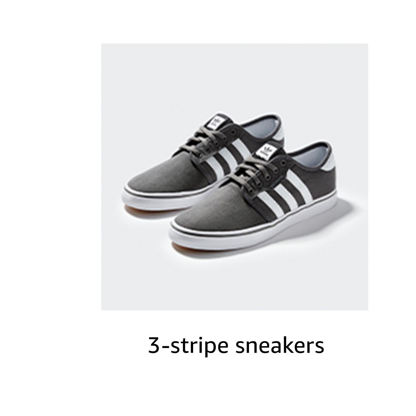 3-stripe sneakers