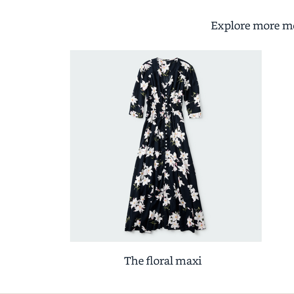 The floral maxi
