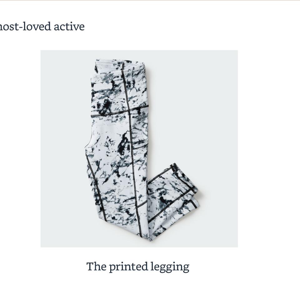 The printed legging
