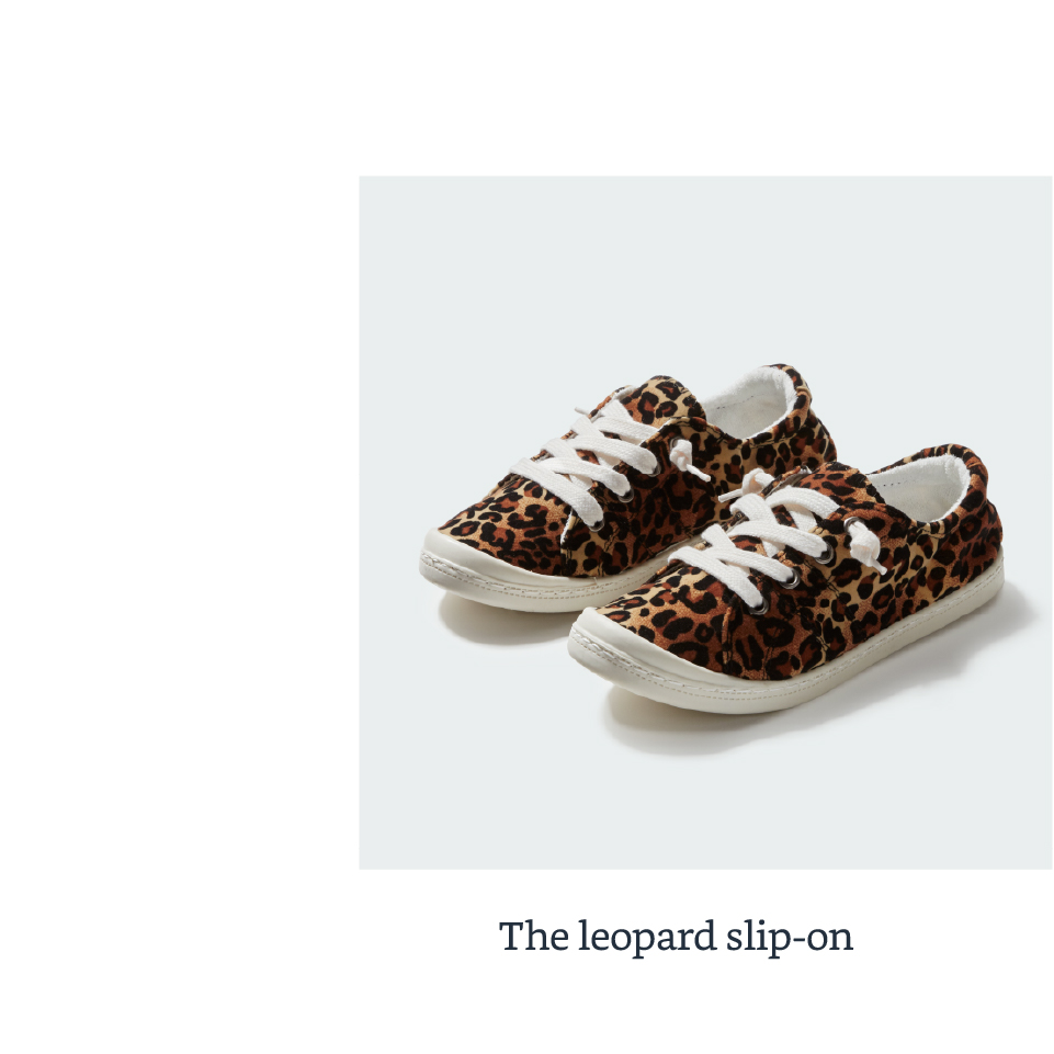 The leapord slip-on