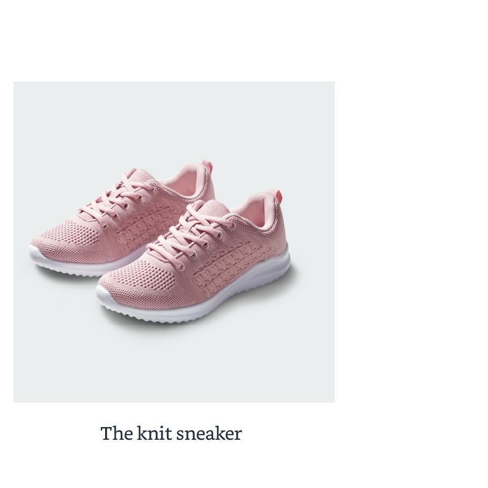 The knit sneaker