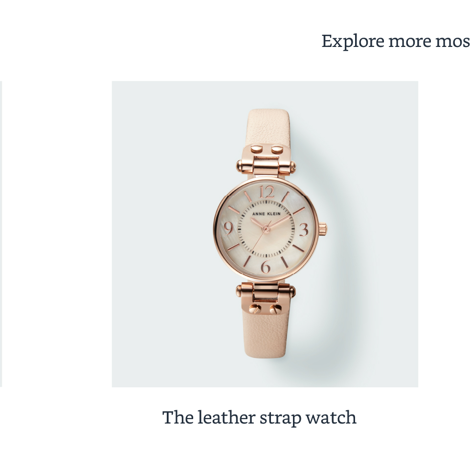 The leather strap watch