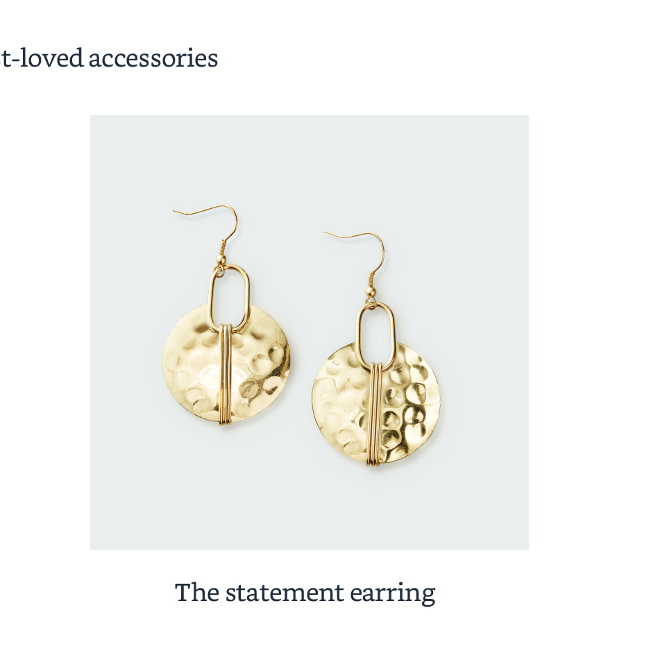 The statement earring