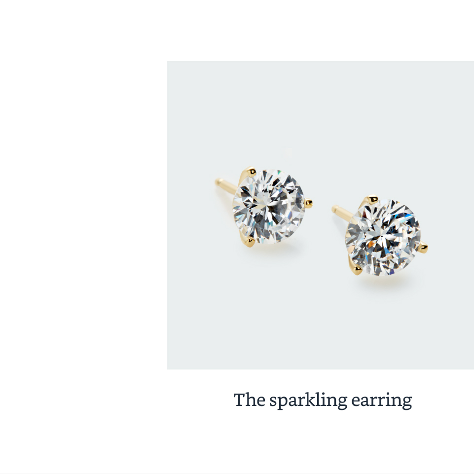 The sparkling earring