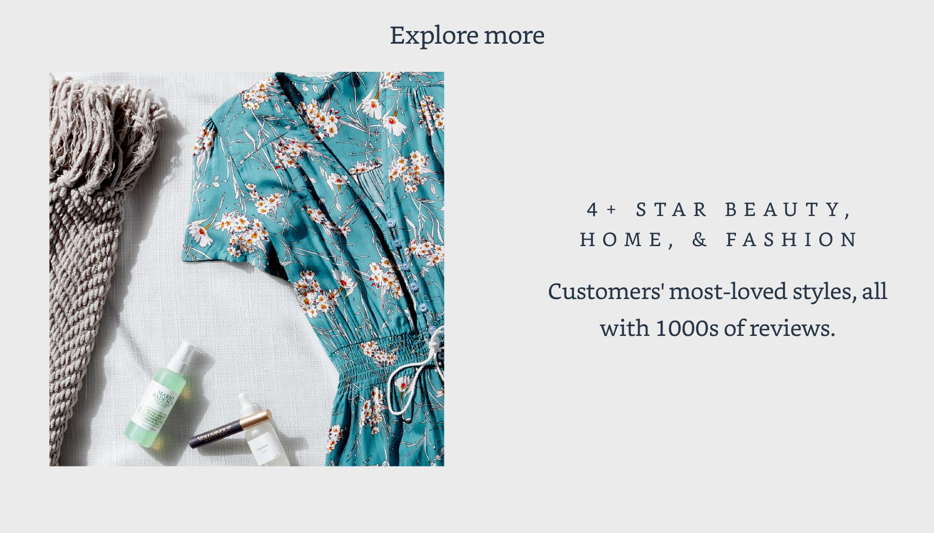4+ Star beauty, home, & fashion