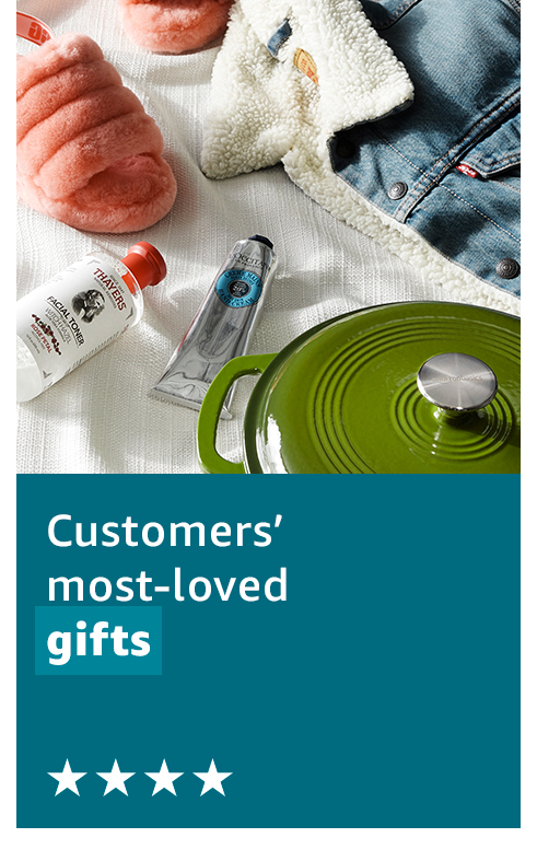 Customers' most-loved gifts