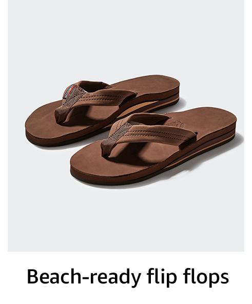 Beach-ready flip flops