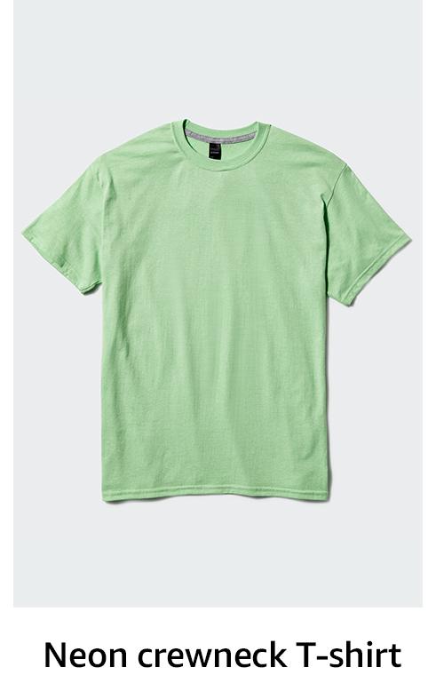Neon crewneck T-shirt
