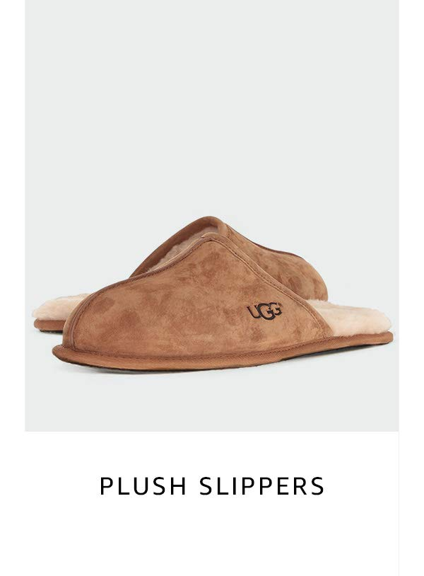 Plush slippers